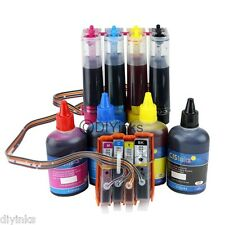 CISS & Extra Ink Set For 564/564XL HP Deskjet 3526 3520 3521 3522 OfficeJet 4620