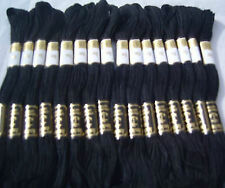 24 Black Anchor Cross Stitch Cotton Embroidery Thread Floss/Skeins