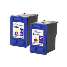 2 Pack HP 57 Color Ink Cartridge for Photosmart 100 130 145v 200 230 245xi
