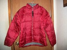 NWT~MEN'S RIVER'S END TRADING COMPANY HOODED PUFFER JACKET~SIZE 2XL~ BURGUNDY