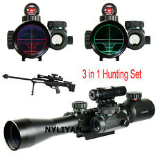 Set 3-9X40EG Red/Green Rangefinder Rifle Scope&Red Laser&Holographic Dot Sight