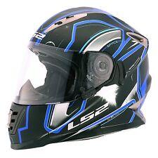 LS2 Helmets - FF302 - Space Black Blue - Full Face Dual Visor Motorcycle Helmet