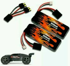 MAXAMPS LiPo 1850 3-cell 11.1v Pair traxxas 1/16 E-Revo 55+mph 37 min run times