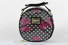 Betseyville Round Black Print Makeup Case Bag