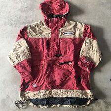 VTG 90s TOMMY HILFIGER Flag Logo ANORAK Colorblock S PULLOVER Jacket SNOWBOARD