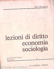 LEZIONI DI DIRITTO ECONOMIA SOCIOLOGIA Mario Zaccagnini Petrini Manuale Corso di
