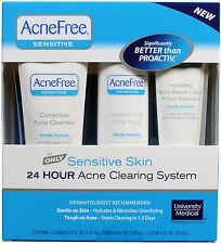 AcneFree Acne Free Sensitive Skin Kit 24 Hour Acne Clearing System