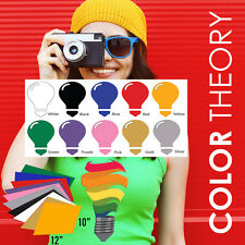 "Heat Transfer Vinyl, 10-Color BUNDLE (10"" x 12"" Sheets) - Iron On, Cameo Cricut"