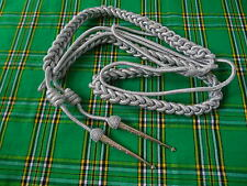 Army Aiguillette Silver Wire Cord/US Officer Military Aiguillett/Navy Aiguillett