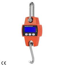 300 KG 660 LBS Mini Crane Scale LCD Digital Industrial Hook Heavy Duty Hanger