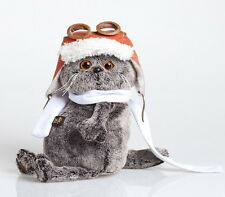 Scottish Fold Kitty Cat Aviator Plush Stuffed Soft Toy 7.5'' Budi Basa Basik