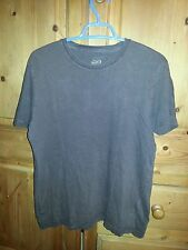 BURTON Mens Brown Tshirt Short Sleeved Crew Neck Top Size Small Plain Cotton