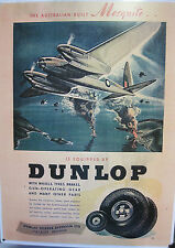 Dunlop Rubber Tyres Australia Aircraft Division Metal Reproduction Sign 204