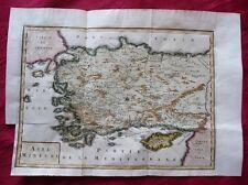 TÜRKEI ANATOLIEN ASIA MINOR ZYPERN KUPFERSTICH KARTE HISTOIRE UNIVERSELLE 1750