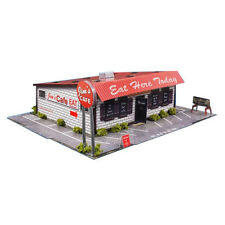 1/64 Slot Car HO Diner Photo Real Slot Car Scale Building Model Kit Race Track