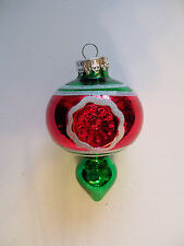 NEW Finial style Indent  Mercury Glass Glitter Christmas Ornaments