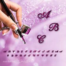 Airbrush klebe Schablonen - BST01 - NAILART Alphabet Buchstaben  Script 100 Stk.