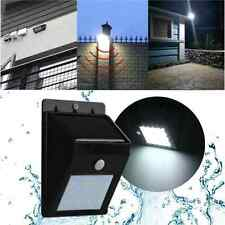 12LED Solar Power PIR Motion Sensor Wall Light Outdoor Waterproof Garden Lamp MC