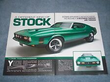 "1971 Mustang Mach 1 Resto-Rod Article ""A Different Kind of Stock"" SportsRoof"