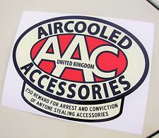 LARGE AAC sticker Aircooled Accessories protect your ride sticker decal VW