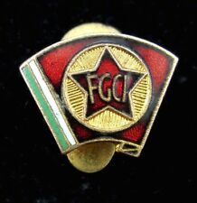 Vintage Old Italian Communist Youth Federation FGCI Buttonhole Pin Badge Rare