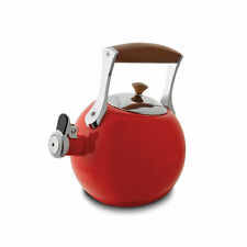Nambe Meridian Tea Kettle - Red
