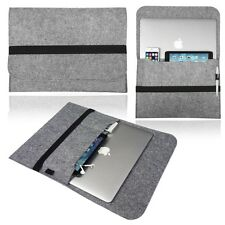 Light Grey Wool Felt Sleeve Case Cover for Apple MacBook Air 13.3 Inch Laptop