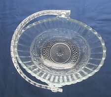 24%  LEAD CRYSTAL GLASS LARGE OVAL BASKET WITH PLASTIC HANDLE    # 794