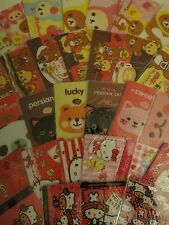 Kawaii Sticker Card Hello Kitty Rilakkuma Cat Bunny Panda One Piece Bookmark 1pc