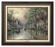 Thomas Kinkade - Hometown Morning – Canvas Classic (Aged Bronze Frame)
