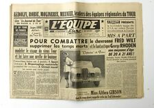 Journal l'Equipe n°1624 - 1951 - Fred Wilt - Miss Althea Gibson - Georges Seres
