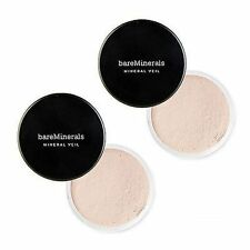 X2 Bare Escentuals bareMinerals ORIGINAL SPF25 MINERAL VEIL Finishing Powder LOT