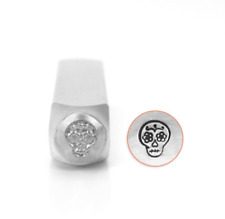 Metal stamp, punch, sugar skull stamp 6mm jewellery stamping