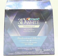 Crest 3D White Whitestrips Luxe Whitening Professional Effects 40 strips 1 Box