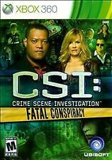 CSI: Crime Scene Investigation - Fatal Conspiracy (Microsoft Xbox 360, 2010)