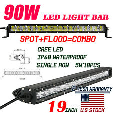 17inch 90W COMBO LED Work Light Bar Offroad Driving Lamp SUV Car Boat 4WD Truck