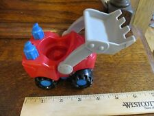 Fisher Price Little People Construction Garage Tractor Scoop bulldozer red thing