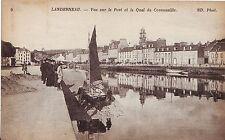 France Landerneau - Le Port et le Quai old unused postcard