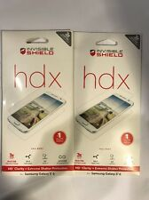 Lot Of 2pc Zagg Invisible Shield HDX Screen Protector  for Samsung Galaxy S6