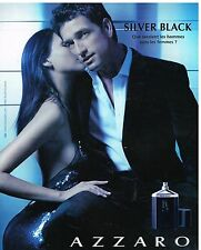 Publicité Advertising 2005 Eau de Toilette Silver Black Azzaro