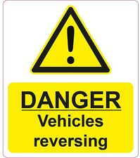 DANGER - Vehicles Reversing - 200x235mm| health and safety | signs/stickers