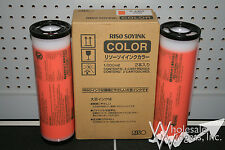 2 Genuine Riso Brand S-4405 Orange Inks Risograph GR RC RA FR RP RN Duplicator