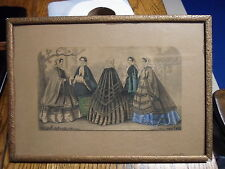 Victorian picture frame, antique Fashion Print, 8 by 11 1/2 inches     # 450