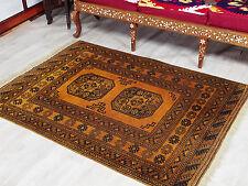 155x112 cm Antik Orient nómadas alfombra Turkmen Ersari Bukhara Carpet Rug nr17/8