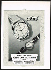 1950's Small Vintage 1955 Robert Cart Watch Co. - Paper Print AD