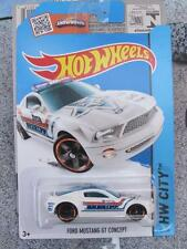 Hot Wheels 2015 #049/250 FORD MUSTANG GT CONCEPT white police sheriff  Long card