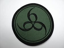 666   BLACK  EMBROIDERED PATCH