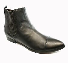 Report NEW Black Women's Size 6.5 Fashion Ankle Leather Boots $130- #020 DEAL
