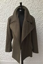 Unique TopShop Green Brushed Wool Pea Coat One Size