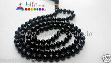 Natural Black Tourmaline agate mala 108 round 6MM beads Black tourmaline Agate